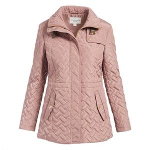 Cole Haan | Mauve Funnel Collar Quilted Jacket